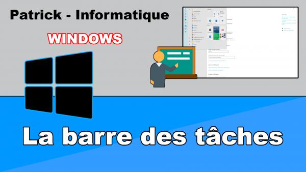 Windows 10 - Déplacer barre des tâches